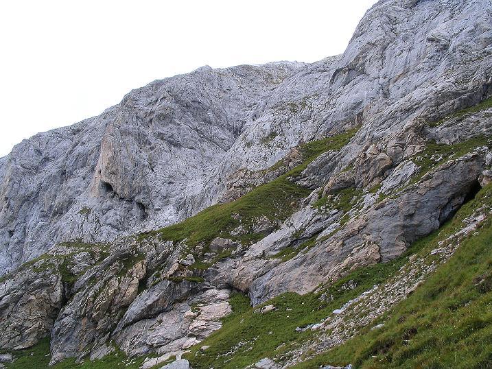 Foto: Andreas Koller / Klettersteig Tour / Via Sartor auf den Hochweißstein / Monte Peralba (2694m) / Die steile S-Wand / 10.09.2008 00:07:31