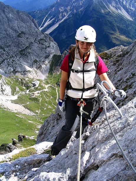 Foto: Andreas Koller / Klettersteig Tour / Via Sartor auf den Hochweißstein / Monte Peralba (2694m) / Am Ausstieg von den Drahtseilen / 10.09.2008 00:02:10