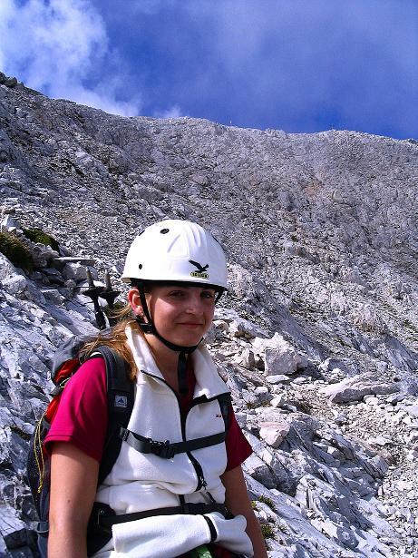 Foto: Andreas Koller / Klettersteig Tour / Via Sartor auf den Hochweißstein / Monte Peralba (2694m) / Da warten noch viele Stelle I / 10.09.2008 00:01:46
