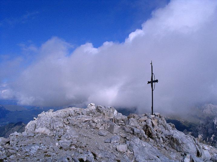 Foto: Andreas Koller / Klettersteig Tour / Via Sartor auf den Hochweißstein / Monte Peralba (2694m) / Hochweißstein-Gipfelkreuz / 10.09.2008 00:00:31
