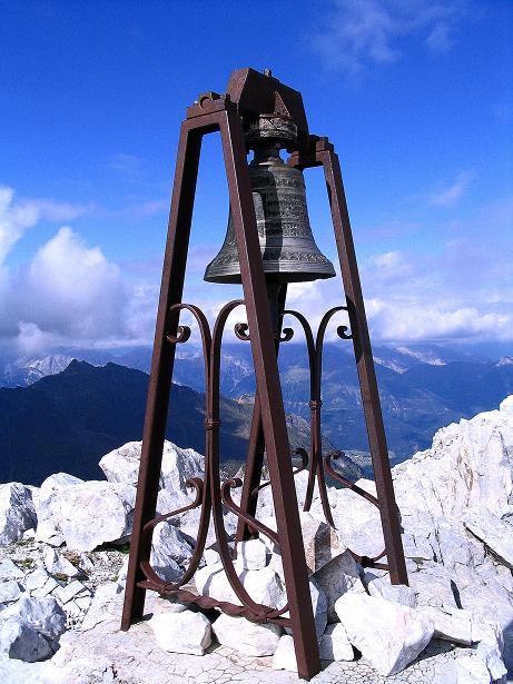 Foto: Andreas Koller / Klettersteig Tour / Via Sartor auf den Hochweißstein / Monte Peralba (2694m) / Friedensglocke / 10.09.2008 00:00:15