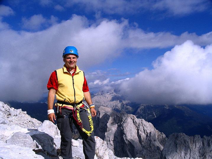 Foto: Andreas Koller / Klettersteig Tour / Via Sartor auf den Hochweißstein / Monte Peralba (2694m) / Gipfelfreuden am Hochweißstein / 09.09.2008 23:58:48