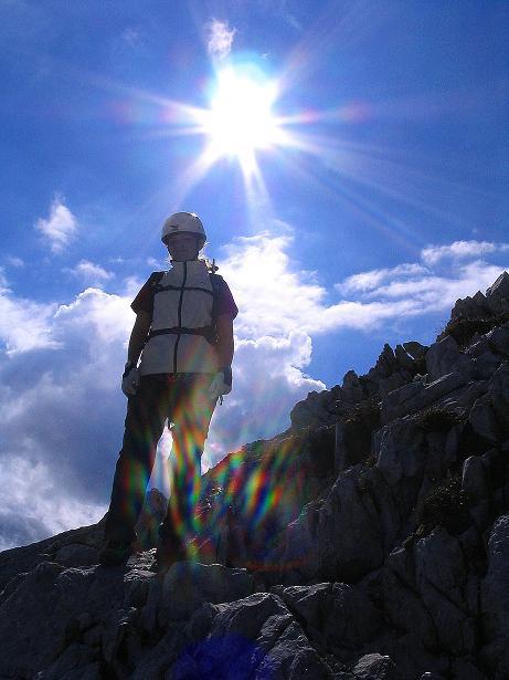 Foto: Andreas Koller / Klettersteig Tour / Via Sartor auf den Hochweißstein / Monte Peralba (2694m) / Abstieg am O-Grat / 09.09.2008 23:58:03
