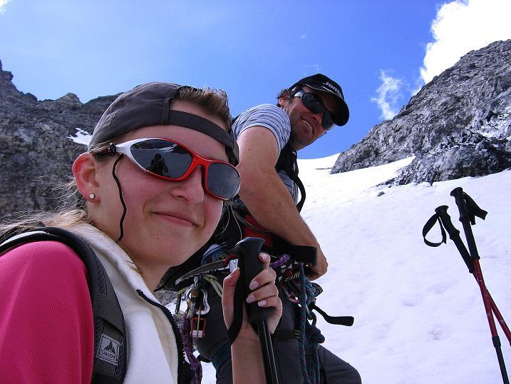 Foto: Andreas Koller / Wander Tour / Historische Tour auf die Payerspitze (3446m) / Kurz vor der steilen Schneerinne / 11.09.2008 03:18:17