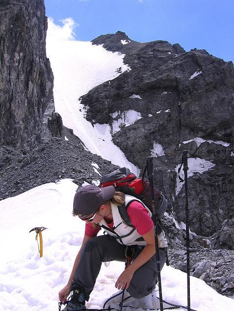 Foto: Andreas Koller / Wander Tour / Historische Tour auf die Payerspitze (3446m) / Rast am Geisterpass / 11.09.2008 03:17:15