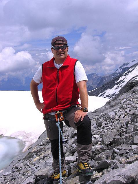 Foto: Andreas Koller / Wander Tour / Historische Tour auf die Payerspitze (3446m) / Rastplatz Gletschersee / 11.09.2008 03:07:46