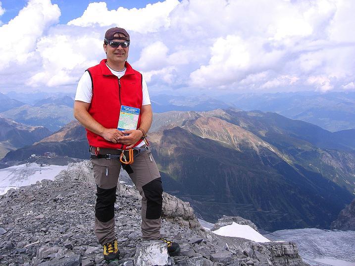 Foto: Andreas Koller / Wander Tour / Historische Tour auf die Payerspitze (3446m) / Das übliche Gipfelfoto / 11.09.2008 03:02:56