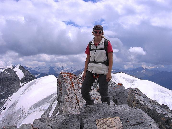 Foto: Andreas Koller / Wander Tour / Historische Tour auf die Payerspitze (3446m) / Am Gipfel der Geisterspitze / 11.09.2008 03:02:18