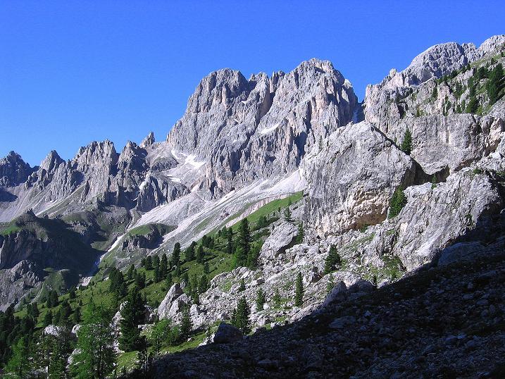 Foto: Andreas Koller / Klettersteig Tour / Kesselkogel Westroute (3002m) / Der Rosengarten / 11.09.2008 23:46:00
