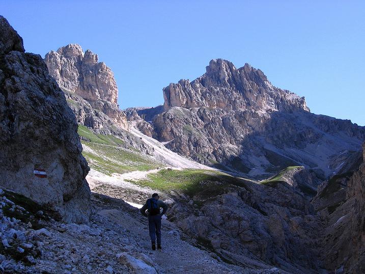 Foto: Andreas Koller / Klettersteig Tour / Kesselkogel Westroute (3002m) / Im Vajolettal / 11.09.2008 23:45:22