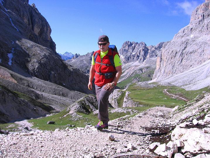 Foto: Andreas Koller / Klettersteig Tour / Kesselkogel Westroute (3002m) / Anstieg zur Graleitenpasshütte / 11.09.2008 23:45:11