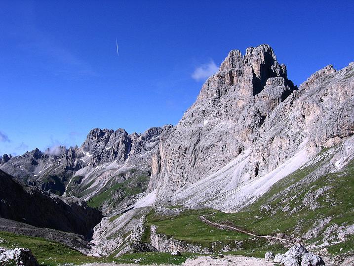 Foto: Andreas Koller / Klettersteig Tour / Kesselkogel Westroute (3002m) / Das obere Vajolettal / 11.09.2008 23:44:42