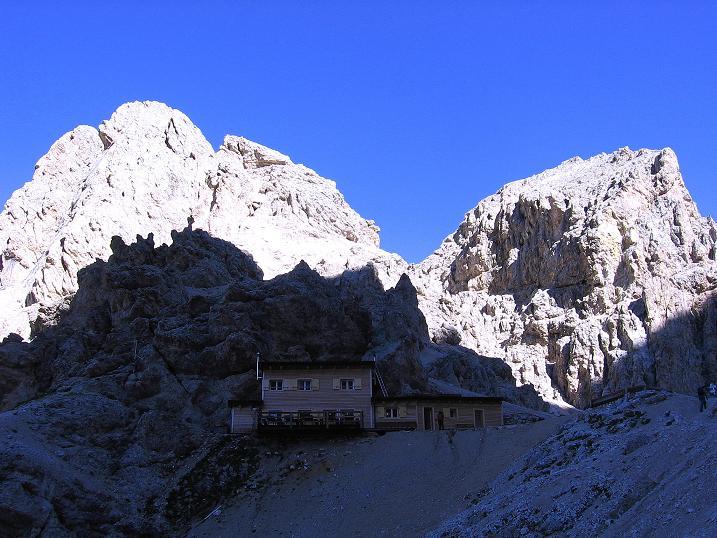 Foto: Andreas Koller / Klettersteig Tour / Kesselkogel Westroute (3002m) / Die Grasleitenpasshütte / 11.09.2008 23:44:22