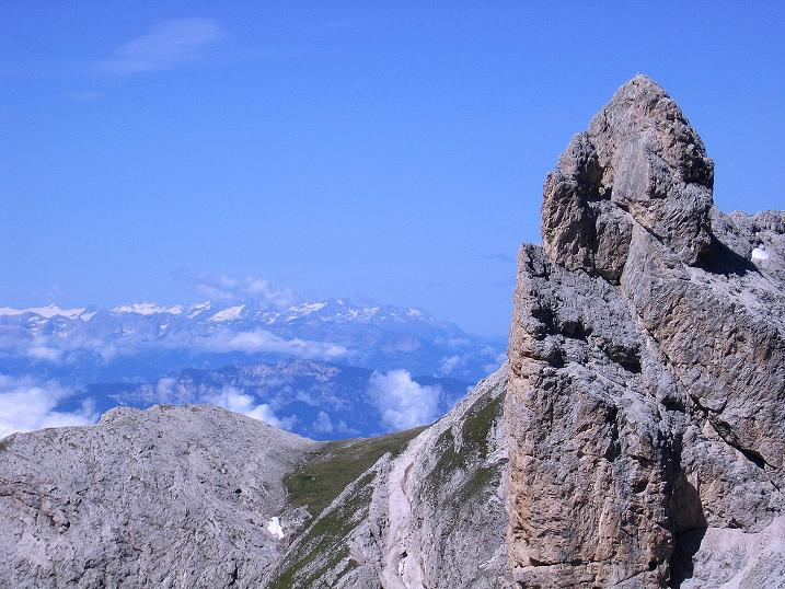 Foto: Andreas Koller / Klettersteig Tour / Kesselkogel Westroute (3002m) / Nach W reicht der Blick bis zum Ortlermassiv / 11.09.2008 23:43:06