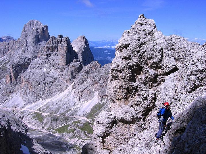 Foto: Andreas Koller / Klettersteig Tour / Kesselkogel Westroute (3002m) / Eine ausgesetztere Passage / 11.09.2008 23:41:08