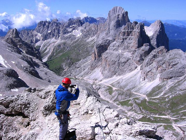 Foto: Andreas Koller / Klettersteig Tour / Kesselkogel Westroute (3002m) / Vajolettal und Rosengartenspitze (2981 m) / 11.09.2008 23:40:30
