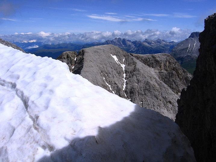 Foto: Andreas Koller / Klettersteig Tour / Kesselkogel Westroute (3002m) / Großartige Sicht vom Klettersteig nach N / 11.09.2008 23:39:39