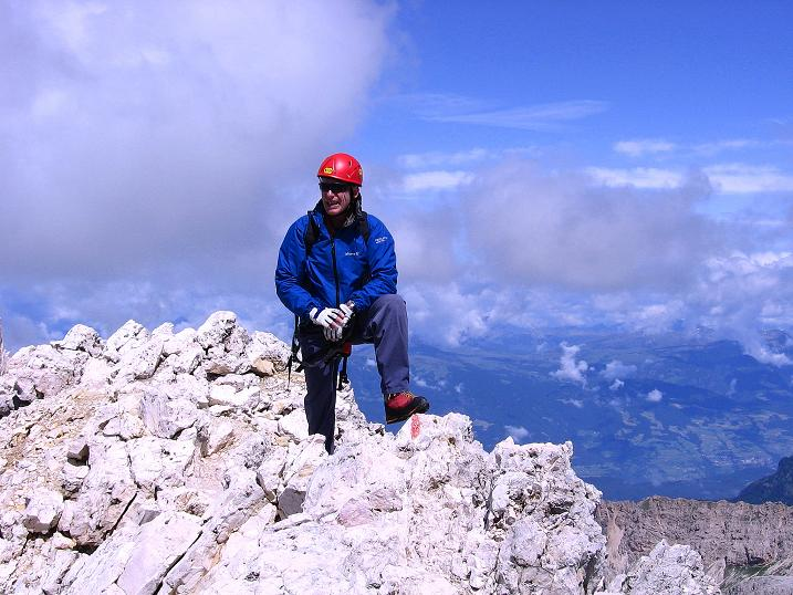 Foto: Andreas Koller / Klettersteig Tour / Kesselkogel Westroute (3002m) / Ausstieg am NW-Grat / 11.09.2008 23:28:56