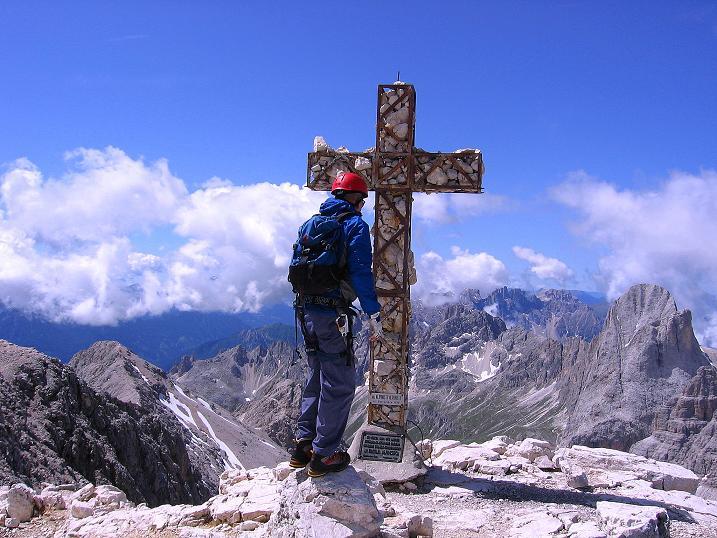 Foto: Andreas Koller / Klettersteig Tour / Kesselkogel Westroute (3002m) / Am Kesselkogel-Gipfel / 11.09.2008 23:28:17