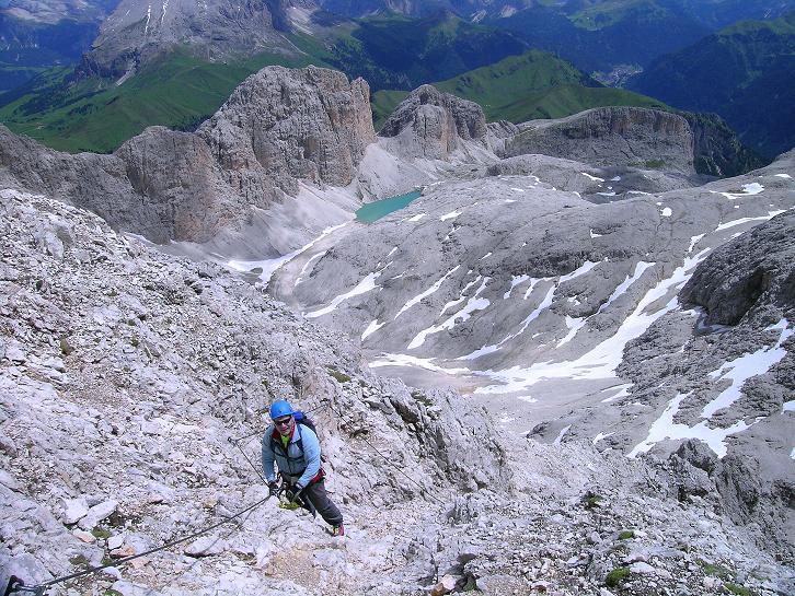 Foto: Andreas Koller / Klettersteig Tour / Kesselkogel Westroute (3002m) / Ost-Klettersteig: steil, aber nicht schwierig / 11.09.2008 23:26:07