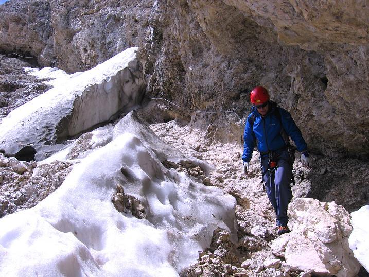 Foto: Andreas Koller / Klettersteig Tour / Kesselkogel Westroute (3002m) / Interessante Routenführung am Ost-Klettersteig / 11.09.2008 23:25:22