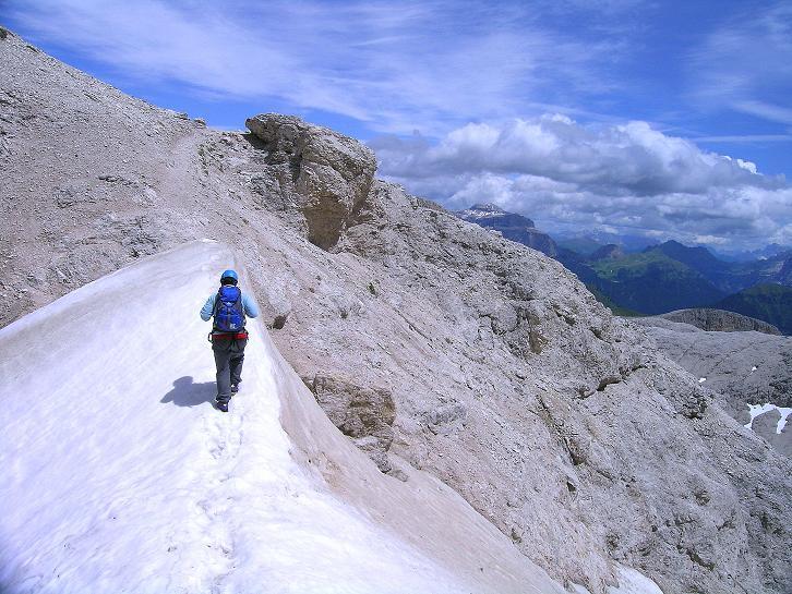 Foto: Andreas Koller / Klettersteig Tour / Kesselkogel Westroute (3002m) / Nach dem Ausstieg aus dem Ost-Klettersteig im Antermoia-Kar / 11.09.2008 23:24:33