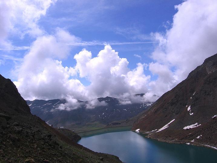 Foto: Andreas Koller / Wander Tour / Vom Grünsee auf die Zufrittspitze (3439m) / Tiefblick auf den Grünsee / 12.09.2008 00:48:45