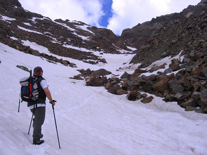 Foto: Andreas Koller / Wander Tour / Vom Grünsee auf die Zufrittspitze (3439m) / Anstieg Richtung Zufrittferner / 12.09.2008 00:47:52