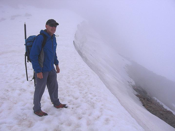 Foto: Andreas Koller / Wander Tour / Vom Grünsee auf die Zufrittspitze (3439m) / Am überfirnten Sattel / 12.09.2008 00:47:16