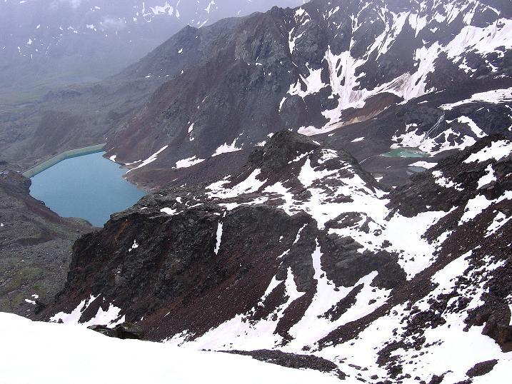 Foto: Andreas Koller / Wander Tour / Vom Grünsee auf die Zufrittspitze (3439m) / Tiefblick auf den Grünsee / 12.09.2008 00:44:45