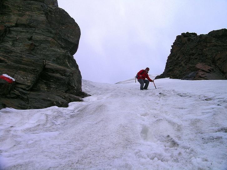 Foto: Andreas Koller / Wander Tour / Vom Grünsee auf die Zufrittspitze (3439m) / Steile Schneehänge können die Tour erschweren / 12.09.2008 00:44:29