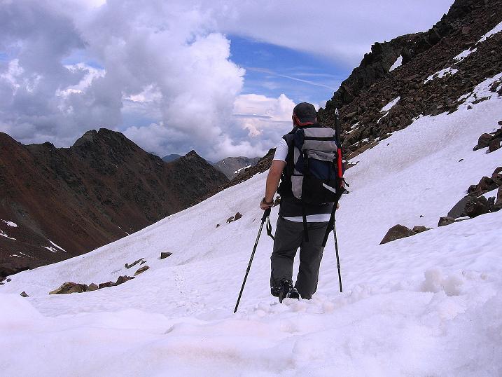 Foto: Andreas Koller / Wander Tour / Vom Grünsee auf die Zufrittspitze (3439m) / Abstieg zur Höchsterhütte / 12.09.2008 00:43:54