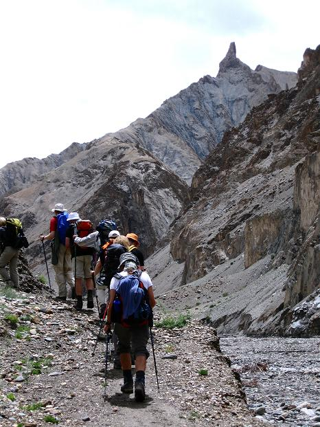 Foto: Andreas Koller / Wander Tour / Durch das Markha Valley nach Tachuntse (4406m) / Felsnadeln im Markha Valley / 12.09.2008 01:22:39