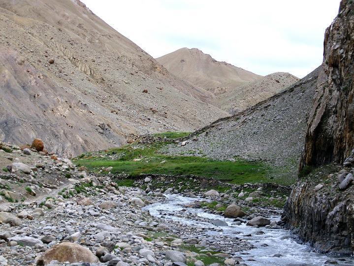 Foto: Andreas Koller / Wander Tour / Durch das Markha Valley nach Tachuntse (4406m) / Das Tal zieht hinauf nach Tachuntse / 12.09.2008 01:19:14