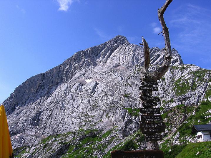 Foto: Andreas Koller / Klettersteig Tour / Alpspitze Ferrata und Überschreitung (2628m) / Die Alpspitze vom Osterfelderkopf / 12.09.2008 15:50:07