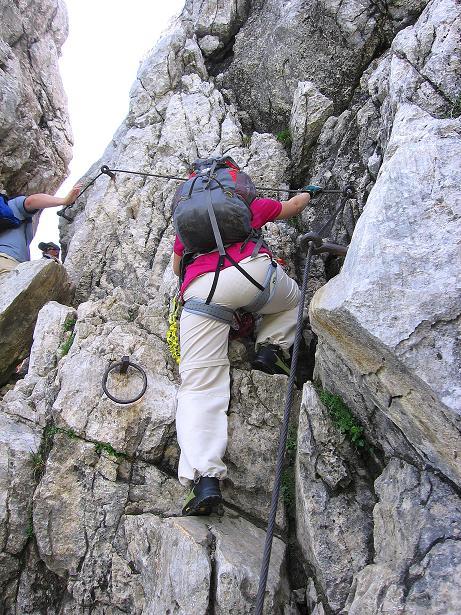 Foto: Andreas Koller / Klettersteig Tour / Alpspitze Ferrata und Überschreitung (2628m) / Erste harmlose Einlage / 12.09.2008 15:49:50