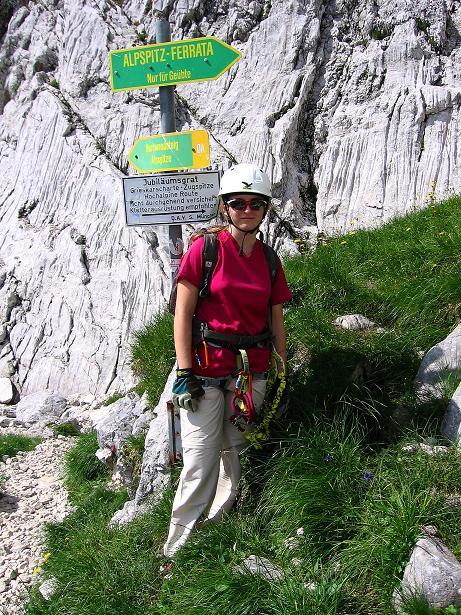 Foto: Andreas Koller / Klettersteig Tour / Alpspitze Ferrata und Überschreitung (2628m) / Abzweigung zur Ferrata / 12.09.2008 15:49:36