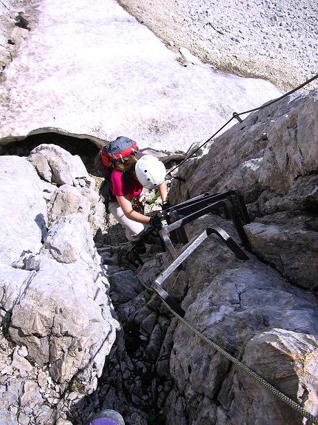 Foto: Andreas Koller / Klettersteig Tour / Alpspitze Ferrata und Überschreitung (2628m) / Der Einstieg / 12.09.2008 15:49:07