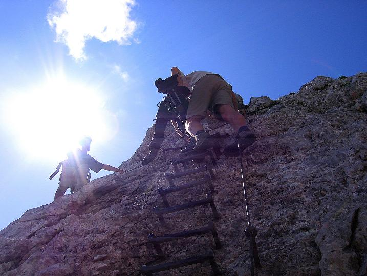 Foto: Andreas Koller / Klettersteig Tour / Alpspitze Ferrata und Überschreitung (2628m) / Luftige Passage / 12.09.2008 15:48:13