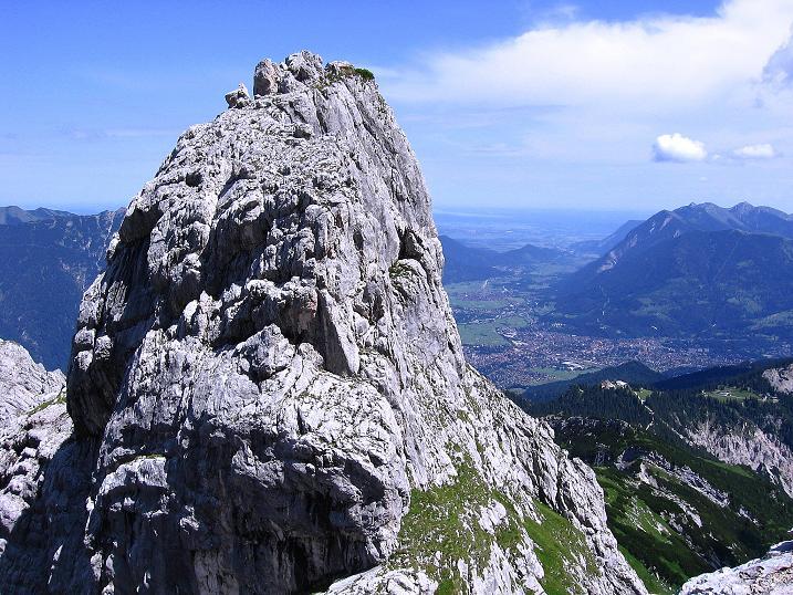 Foto: Andreas Koller / Klettersteig Tour / Alpspitze Ferrata und Überschreitung (2628m) / Im Tal: Garmisch / 12.09.2008 15:45:40