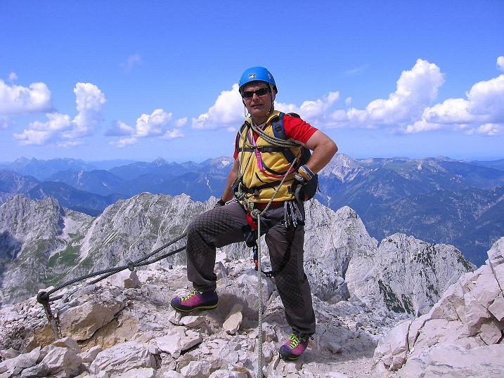 Foto: Andreas Koller / Klettersteig Tour / Alpspitze Ferrata und Überschreitung (2628m) / Am W-Grat / 12.09.2008 15:44:14