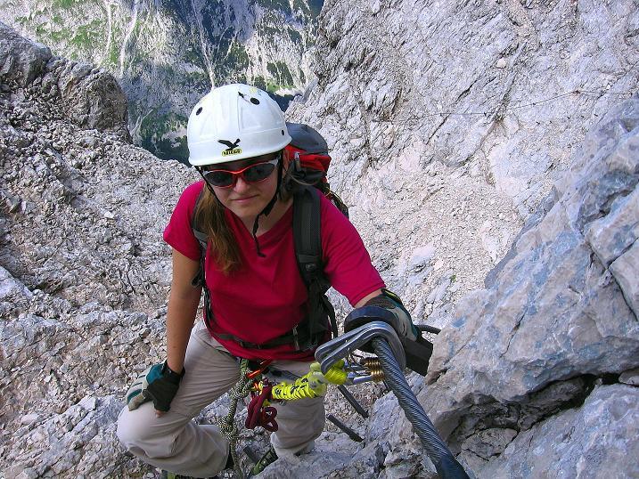 Foto: Andreas Koller / Klettersteig Tour / Alpspitze Ferrata und Überschreitung (2628m) / Der letzte steile Aufschwung / 12.09.2008 15:44:02