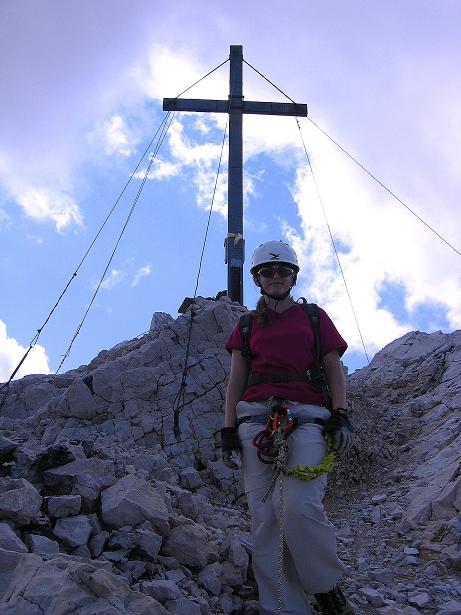 Foto: Andreas Koller / Klettersteig Tour / Alpspitze Ferrata und Überschreitung (2628m) / Die letzten Meter zum Gipfel / 12.09.2008 15:43:15