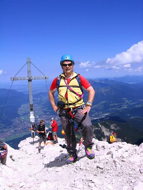 Foto: Andreas Koller / Klettersteig Tour / Alpspitze Ferrata und Überschreitung (2628m) / Alpspitz-Gipfel / 12.09.2008 15:42:15