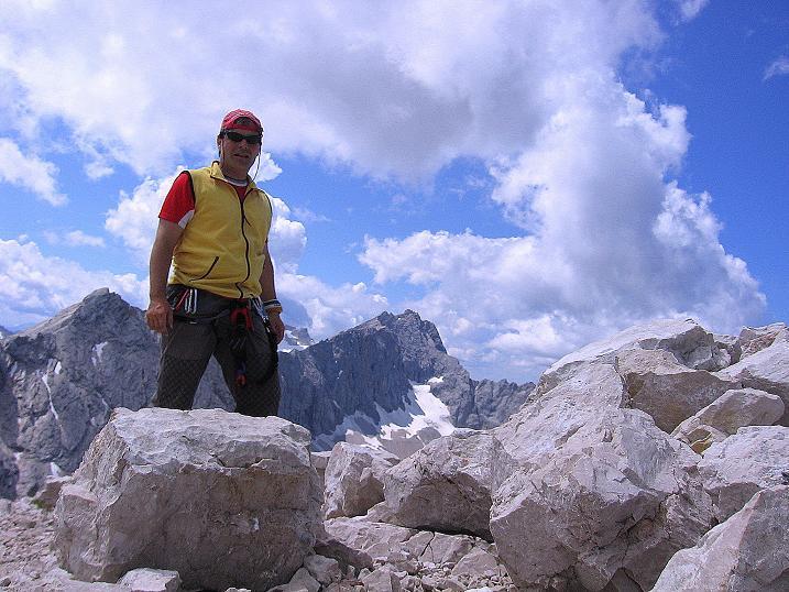Foto: Andreas Koller / Klettersteig Tour / Alpspitze Ferrata und Überschreitung (2628m) / Auf dem Alpsitz-Gipfel / 12.09.2008 15:41:32