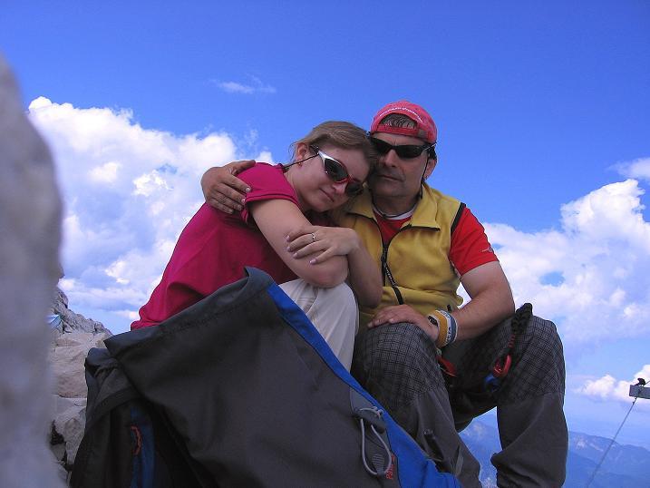 Foto: Andreas Koller / Klettersteig Tour / Alpspitze Ferrata und Überschreitung (2628m) / Gipfelfreuden / 12.09.2008 15:41:02