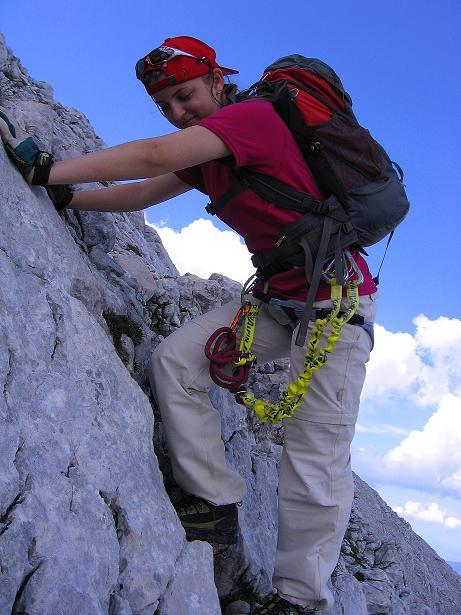 Foto: Andreas Koller / Klettersteig Tour / Alpspitze Ferrata und Überschreitung (2628m) / Passagen I / 12.09.2008 15:40:30