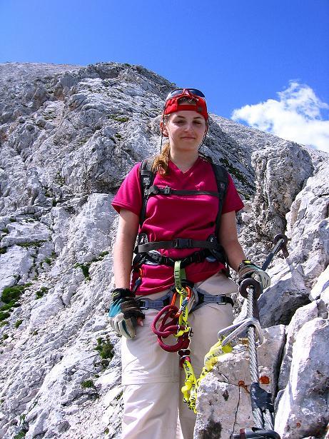 Foto: Andreas Koller / Klettersteig Tour / Alpspitze Ferrata und Überschreitung (2628m) / Auch am Oststeig ist Trittsicherheit notwendig / 12.09.2008 15:40:17