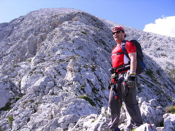 Foto: Andreas Koller / Klettersteig Tour / Alpspitze Ferrata und Überschreitung (2628m) / Abstieg in der O-Flanke / 12.09.2008 15:39:49
