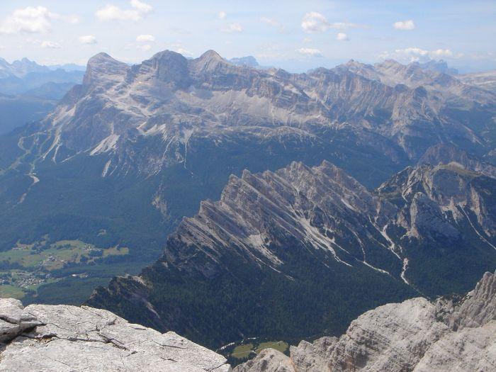 Foto: Manfred Karl / Klettersteig Tour / Via ferrata Marino Bianchi / Pomagagnon und Tofane im Hintergrund / 13.09.2008 14:55:29
